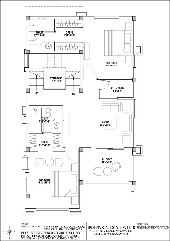 Vastu layout for south facing house